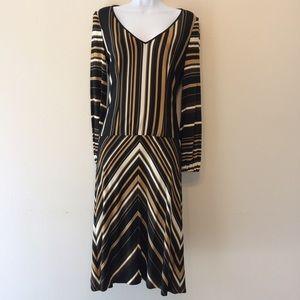 Carolina Herrera Stripped Black Dress 4